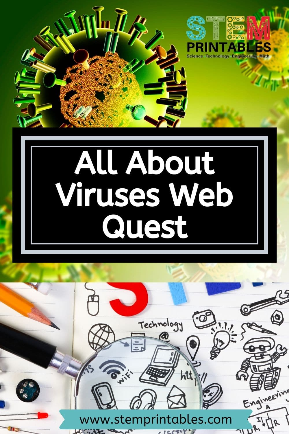 All About Viruses Web Quest - STEM Printables - Foldables ...